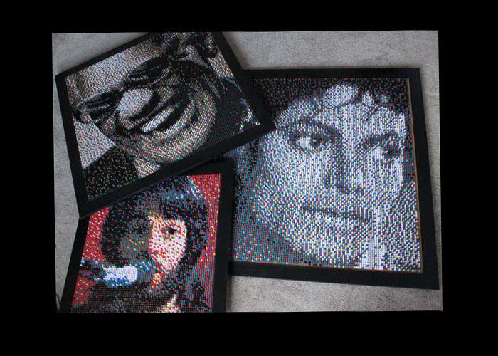 push pin collage
